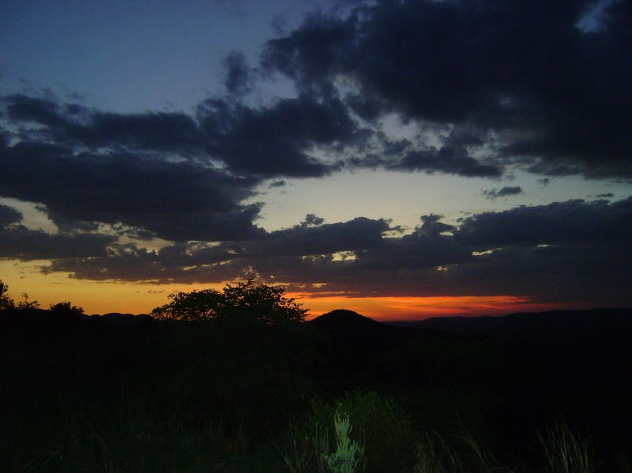 Sunset on Thwane Bush Camp