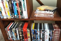 A good selection of DVDs (something for all ages) available in your guest lounge