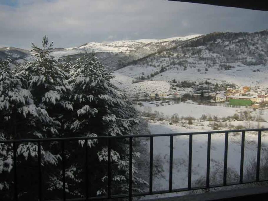 Vistas al valle en invierno