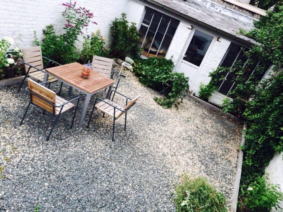 Appartement loftstyle eu jardin appartements louer for Appartement a louer avec jardin bruxelles
