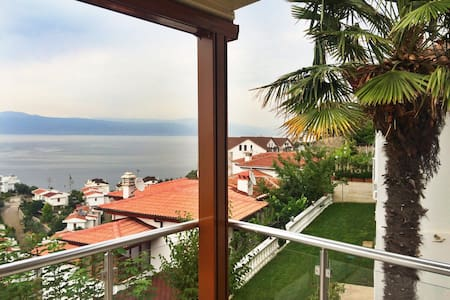 House with a pool, garden and SEA! - Bursa