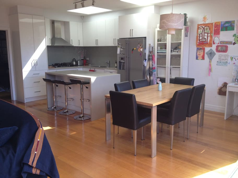 Kitchen/Dining and 2nd living area.