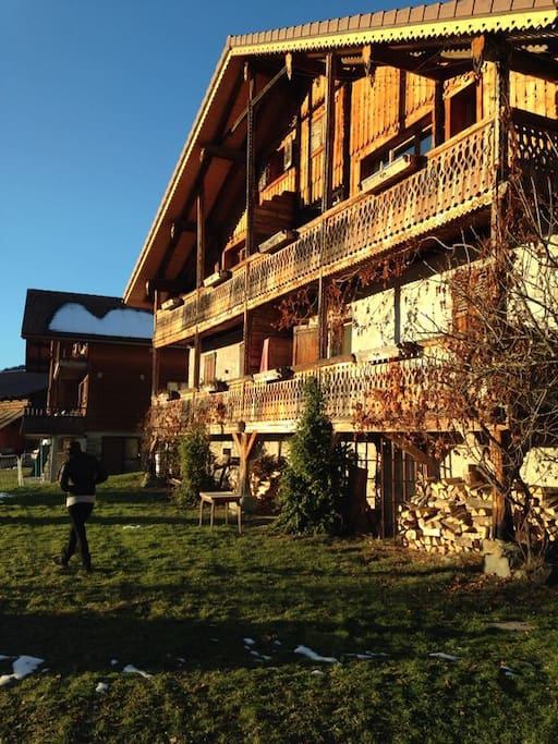 Outside of the chalet