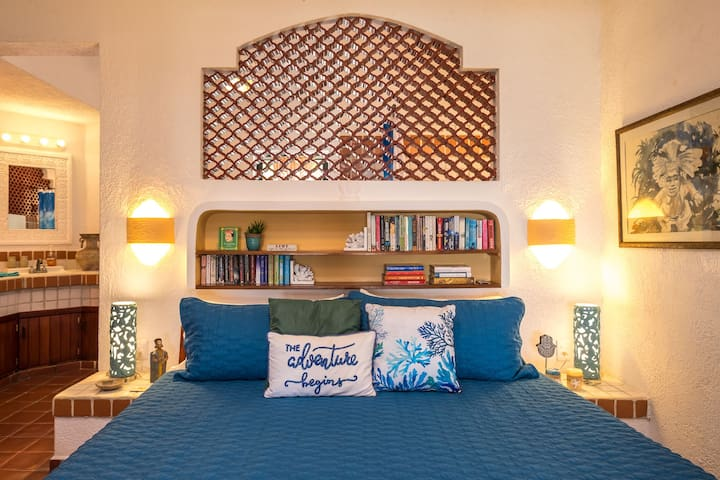 Enjoy a book while lounging in bed or just relax and gaze at the ocean....