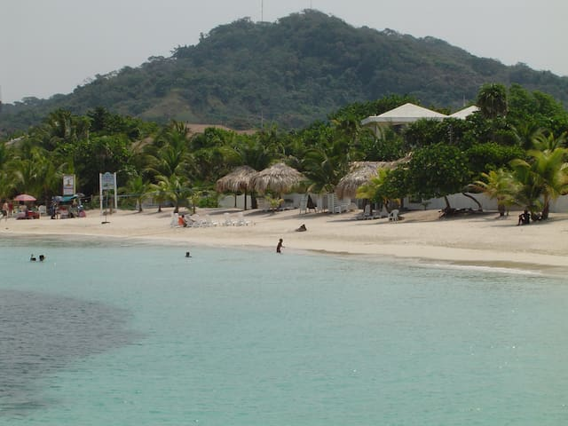 West Bay Beach. Voted as one of the Top Ten beaches in the Caribbean.
