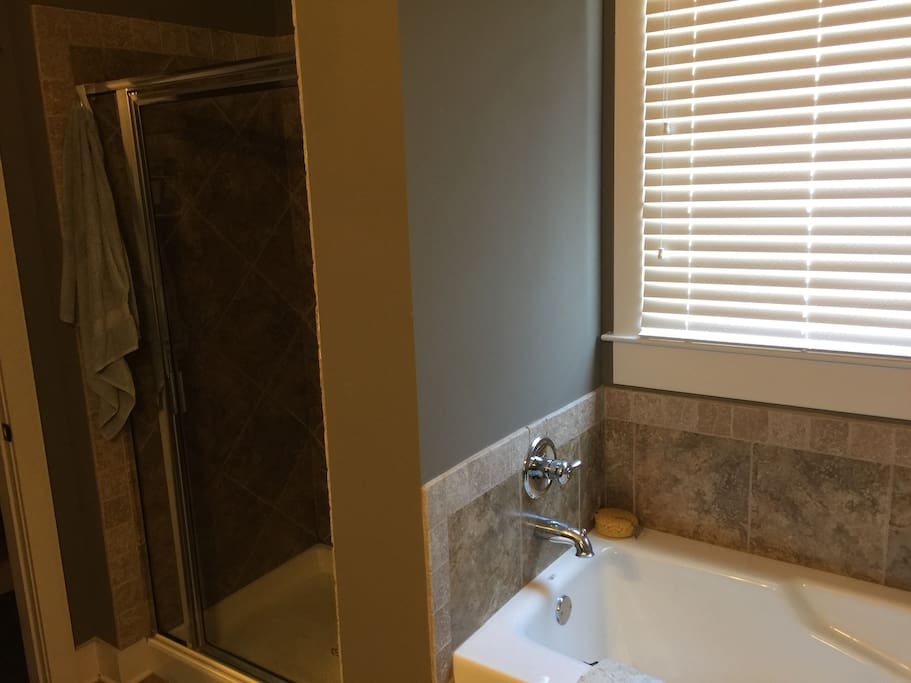 Private Bathroom has both tub & shower available
