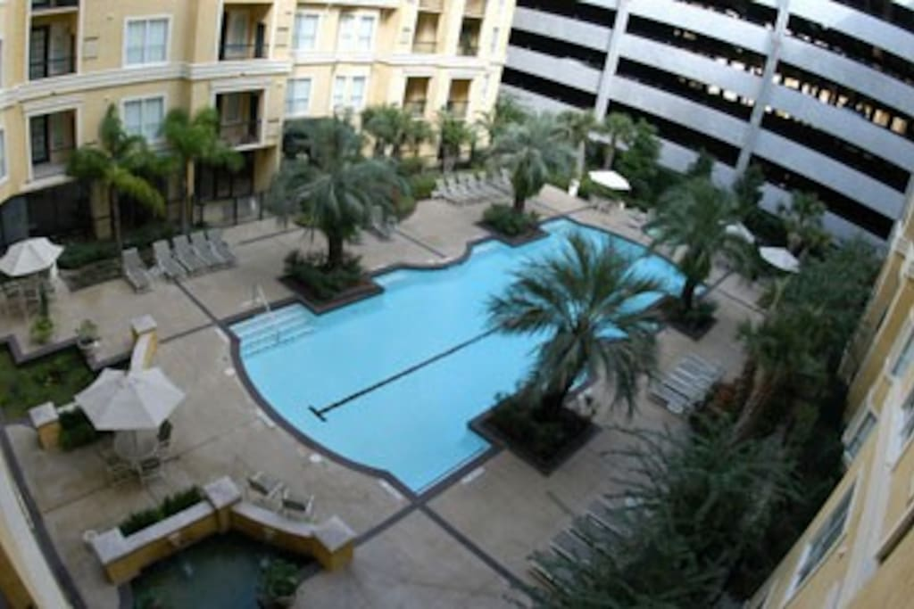 Pool deck from above