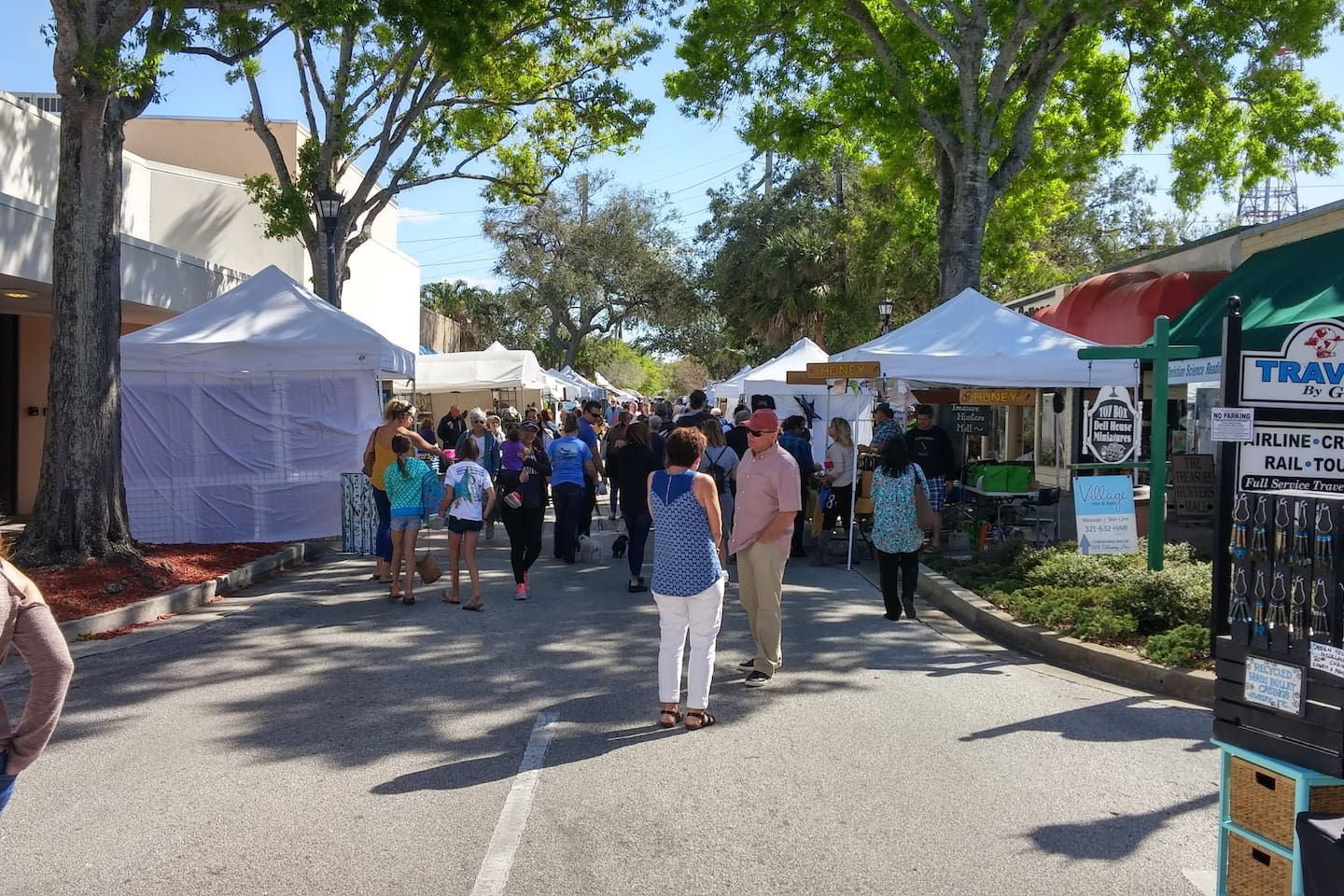 Arts and Crafts fair..one of many events in picturesque Cocoa Village