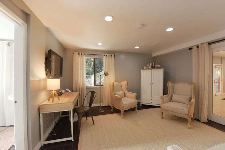Office/Study with Pullout Sofa Bedroom 5,  with adjoining bathroom. First floor