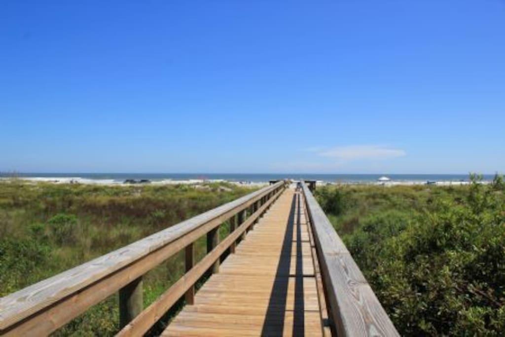 Walkway to the beach.