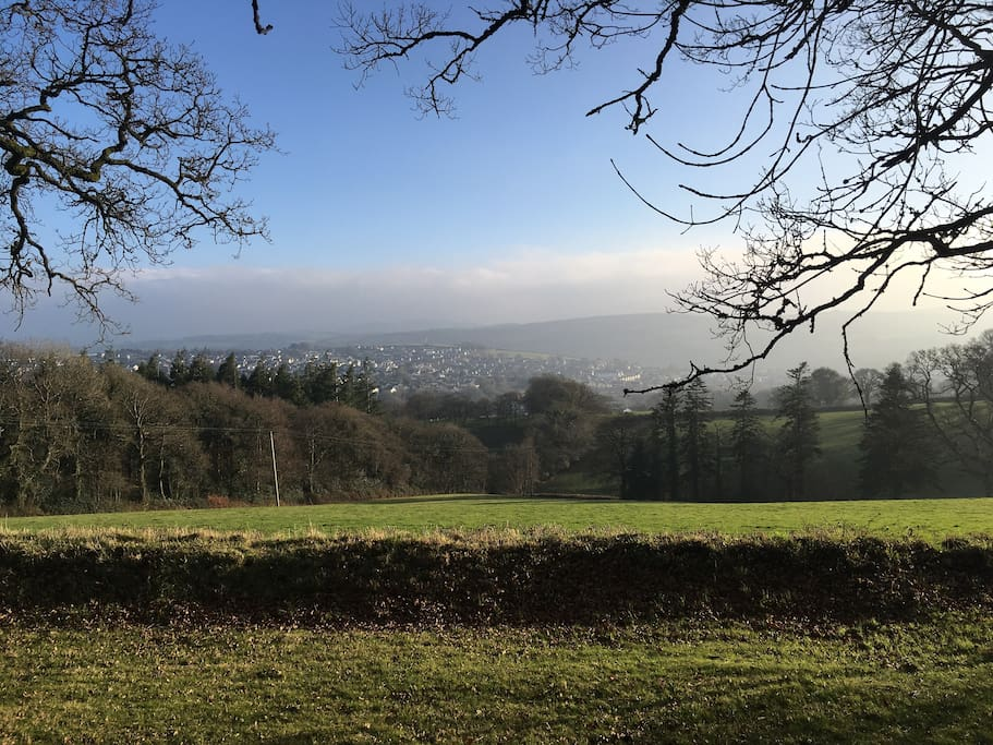 View of Dartmoor National Park and Okehampton from Meadow Sweet