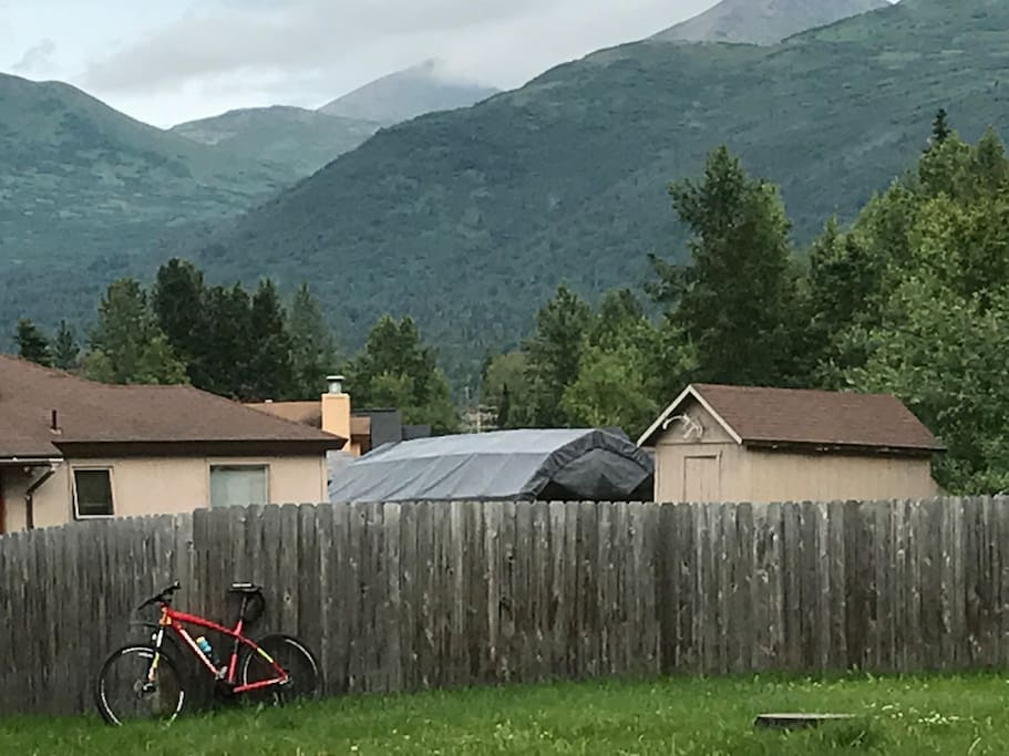You can head out our back gate right into the mountains if you want.
