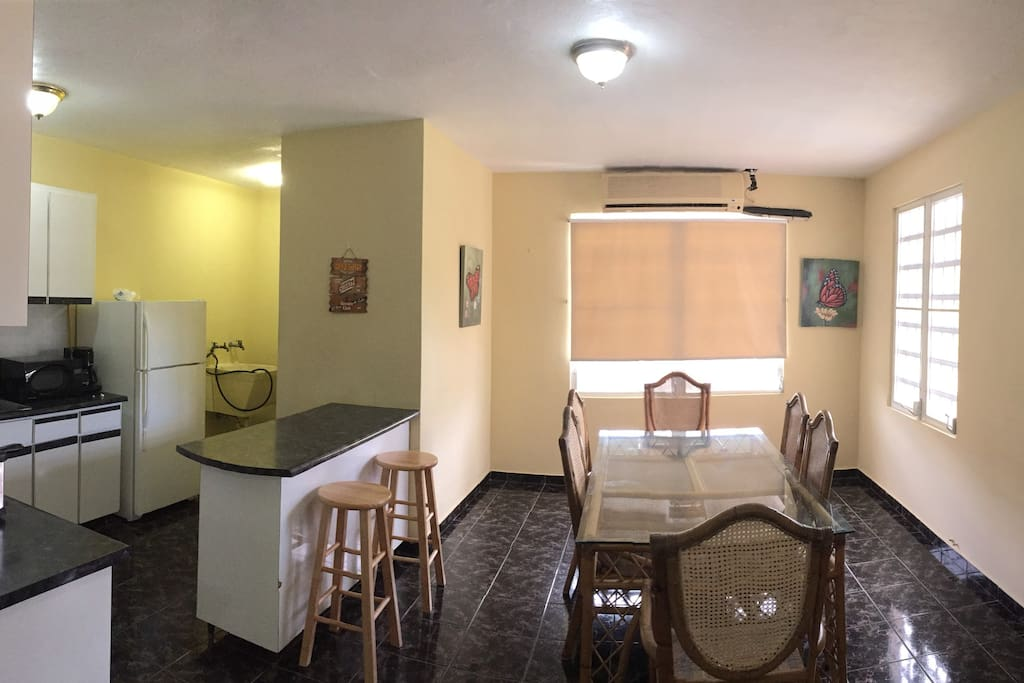 ample kitchen / dinner space. There is AC only in bedrooms