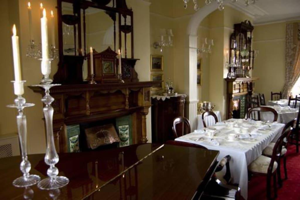 Dining room period authentic furniture