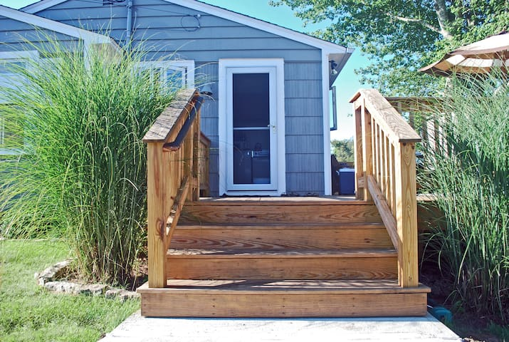Welcome to our favorite part of the house, the deck!