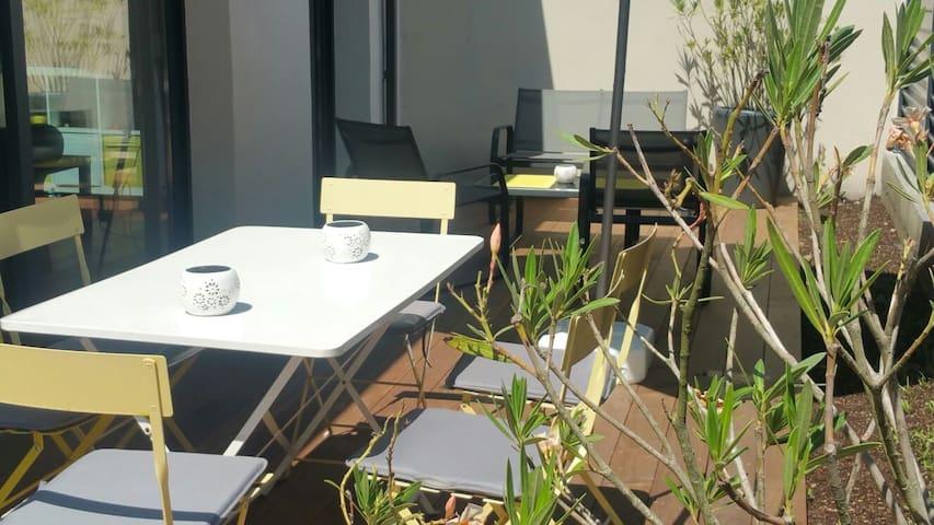 Maison+terrasse/Bordeaux Chartrons