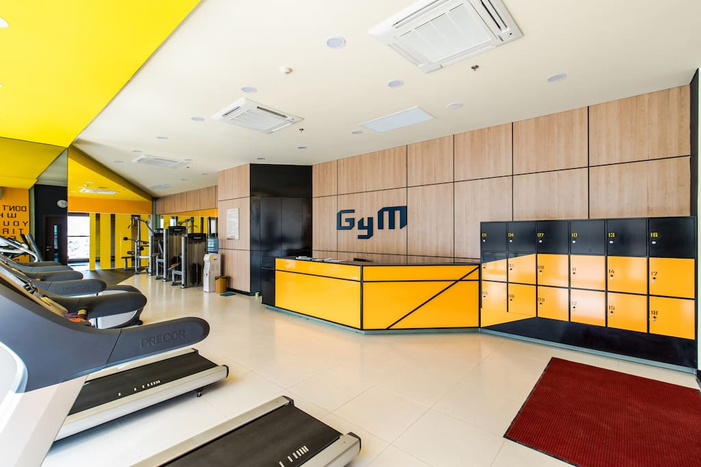 Modern gym inside the building and you could use it free! Keep fit and stay healthy if you wanna stay here long with us!