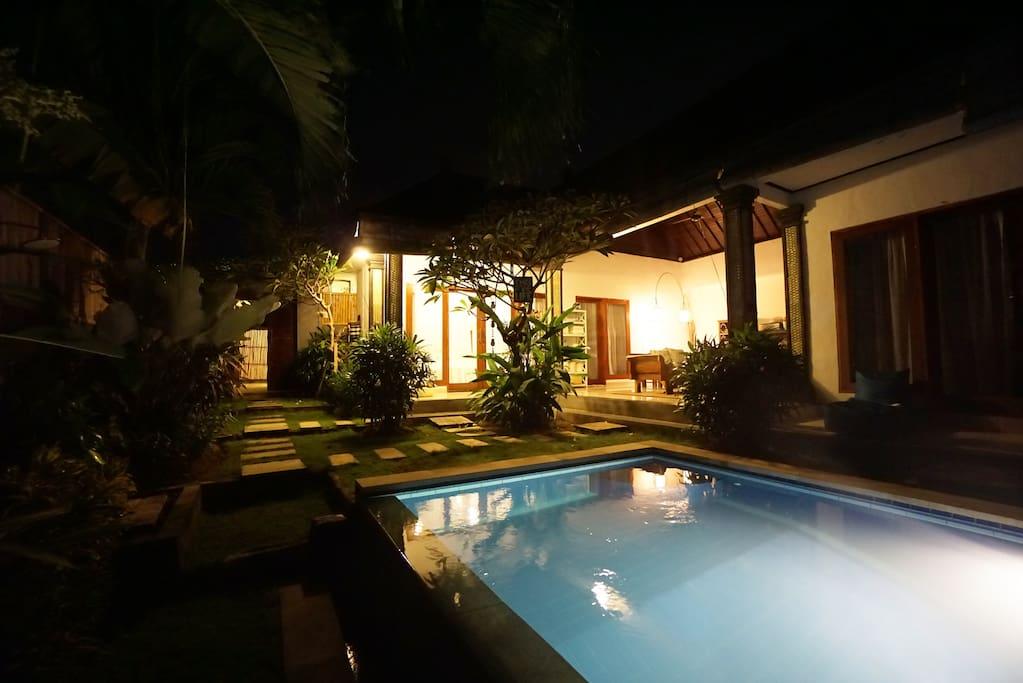 Pool and Living Room