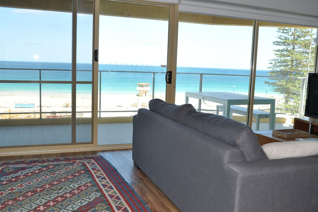 Breathtaking views from inside and on the balcony