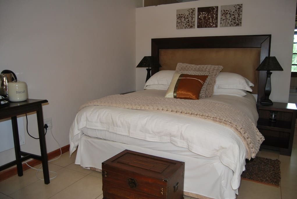 Comfortable Double Bed - Room 1