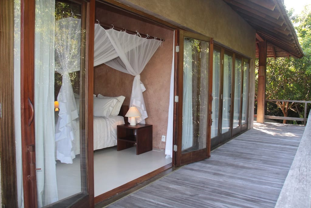Balcony of two double bed rooms along Atlantic forest