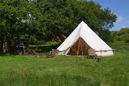 The Oak Nest Bell Tent  Cuckoo Farm - Modbury