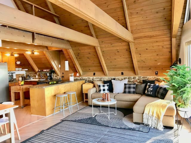 GREAT ROOM for socializing, cooking and sitting around the fire