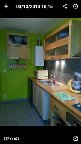 flat 70m² 1h by train from Paris
