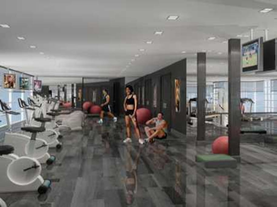 Large Gym & Fitness Area