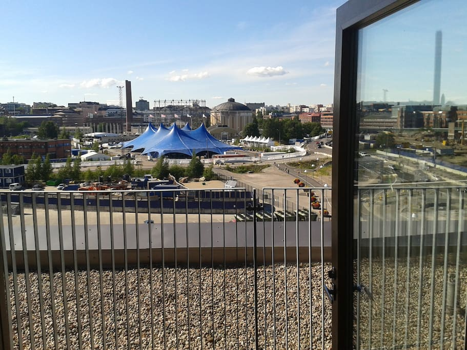 Front balcony view to Flow Festival area