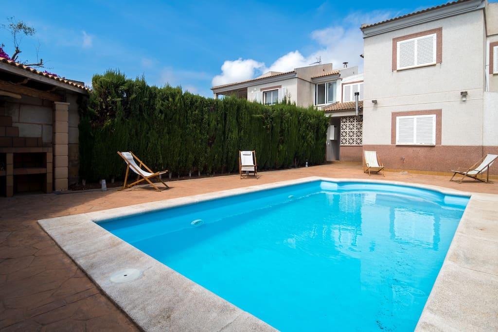 villa con piscina en cala blava chal s para alugar em