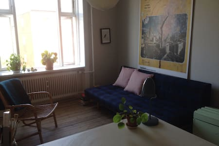 My flat is located very close to cafes, shops  and metro on Frederiksberg. I have room for 3 people. There is also a very nice yard were you can sit and relax.