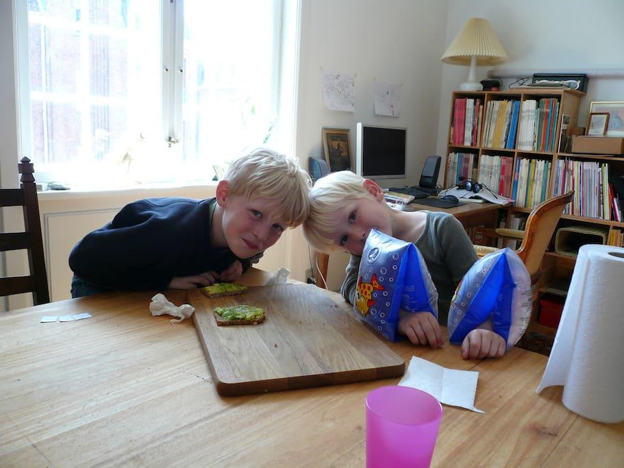 Spisebordet i stuen