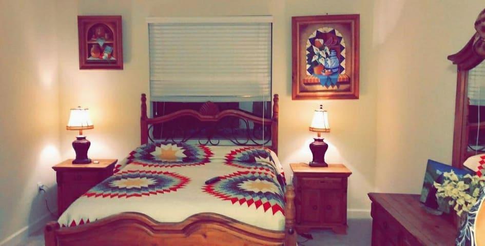 Comfortable, homy bedroom excellent neighborhood
