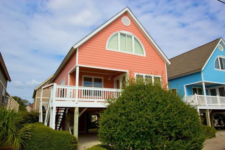 House Privacy at Condo Rates, 3BR Across from Beach,  Beach Canopies OK Here! - Surfside Beach - House