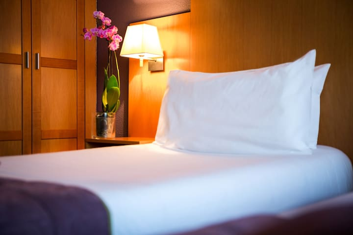Chambre à bord de l'Hôtel Christina - Lourdes - Bed & Breakfast
