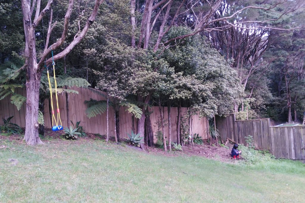 BACK YARD WITH SWING