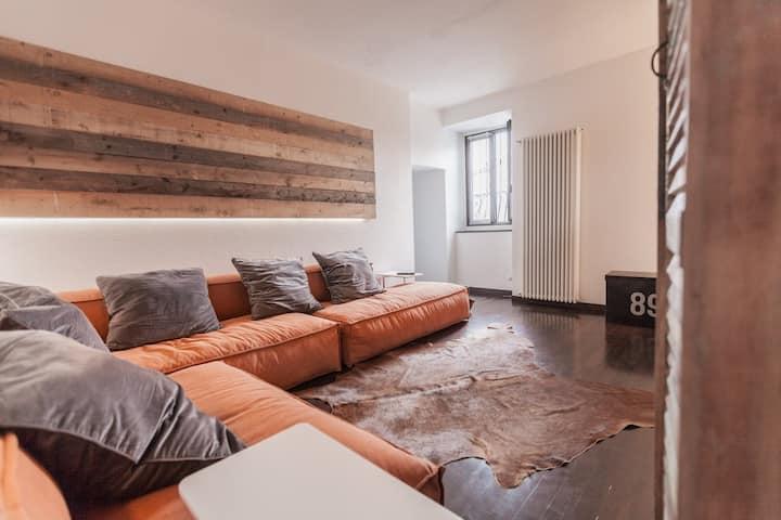 Stylish flat with garden, Lugano