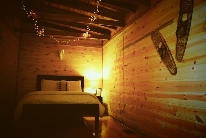 Bedroom 2, the snow room, queen sized pillow top mattress