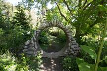 This stone circle stands on the 45th parallel in the middle of the garden.