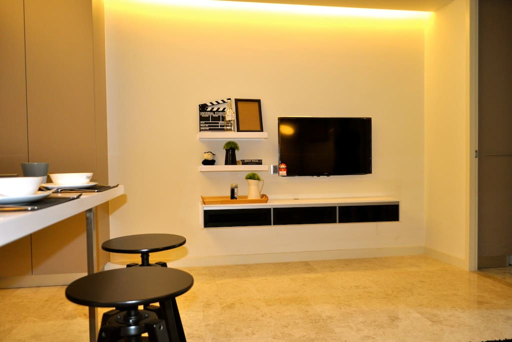 Watch TV from anywhere in the living area