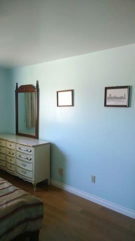 Spacious Upstairs Bedroom with Great View