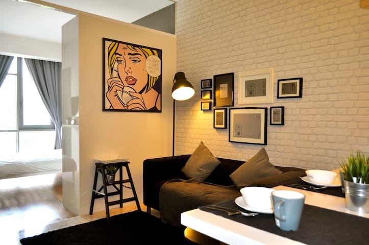 Contemporary 1-Bedroom #1, Mont Kiara - Kuala Lumpur - Appartement