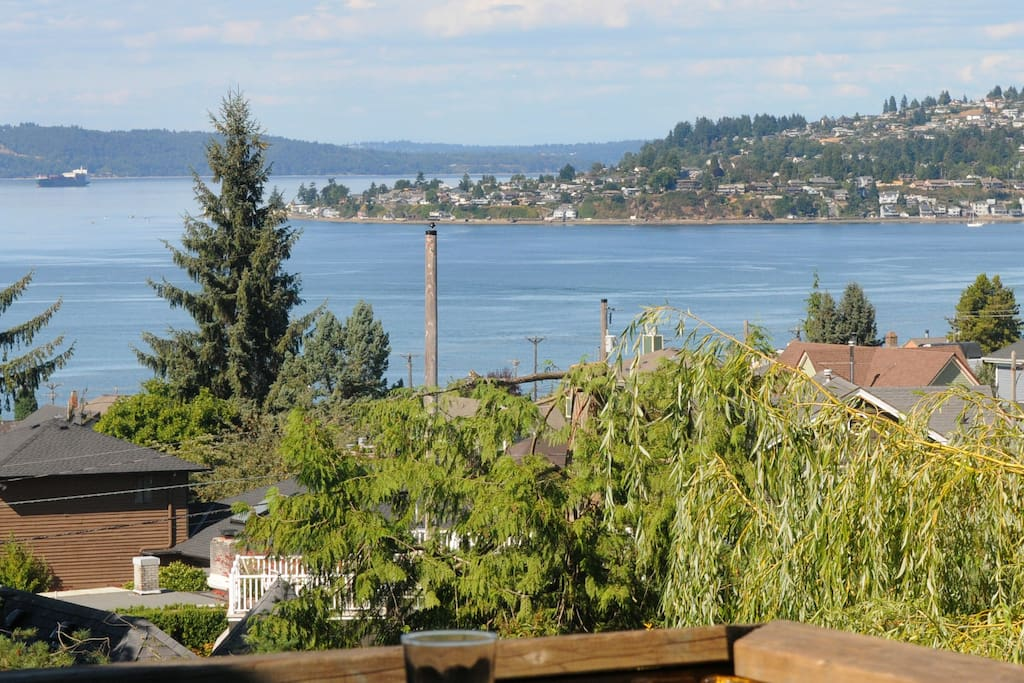 Views of Old Town, Commencement Bay and Puget Sound towards Seattle