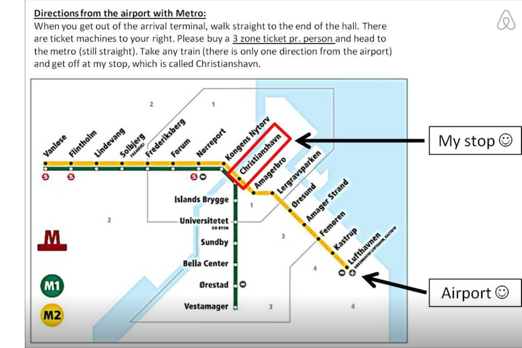 The Metro (subway) takes only 12 minutes from the airport to my neighbourhood!