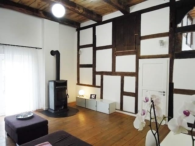 Half timbered house+ log burner - Bielefeld - Daire