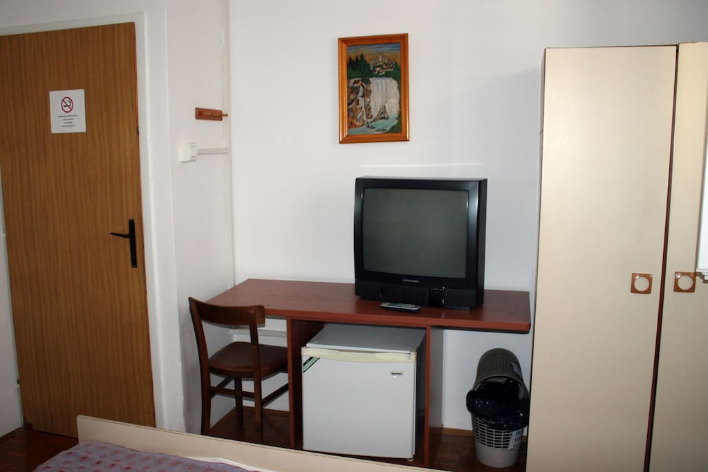 In the room you will have TV and refrigerator (air conditioning is at an additional charge)