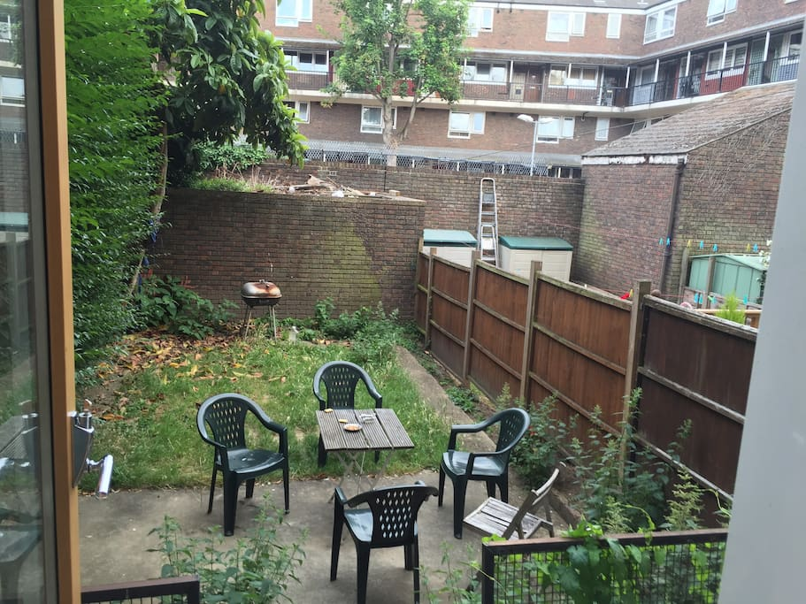 generous garden space