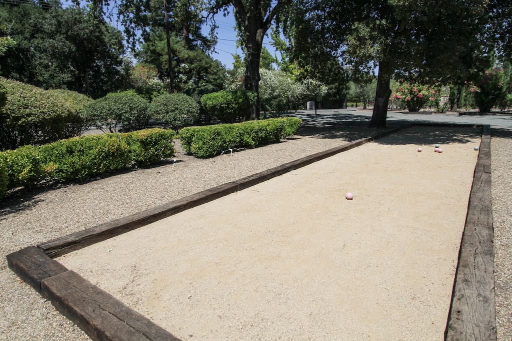 Play Bocce in the front yard