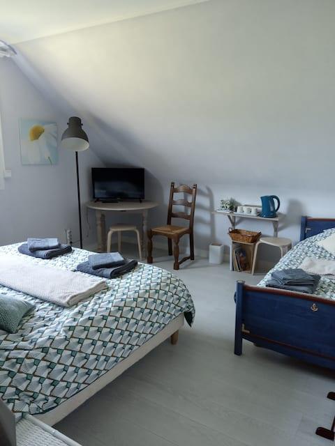 Chambre au calme , à 5min de Bayeux